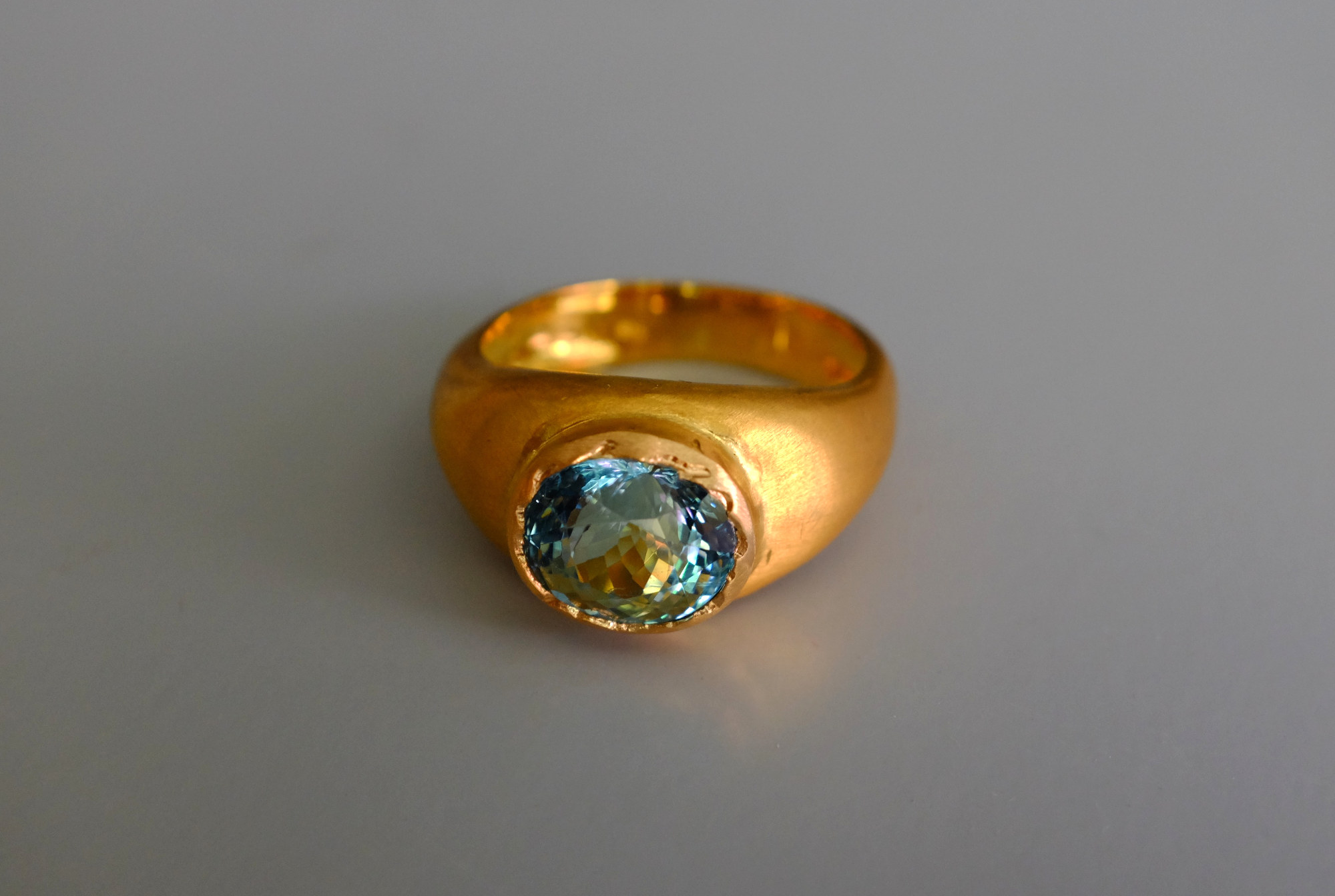 SIJS, roman gold ring, handmade fine jewelry, medieval style gold rings, mens antique style rings, aquamarine ring mens, bespoke jewellery singapore, fine jewellery singapore