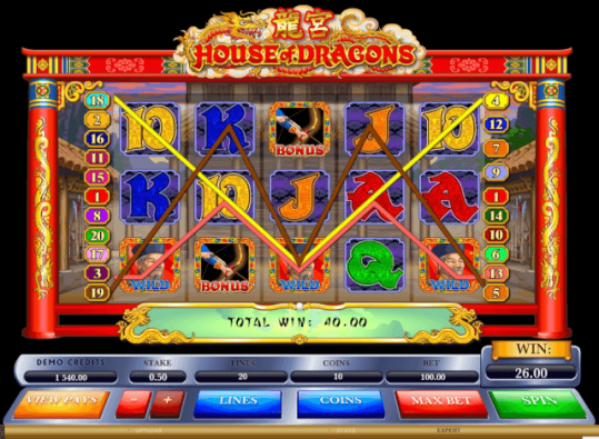 House of Dragons slot game bonus