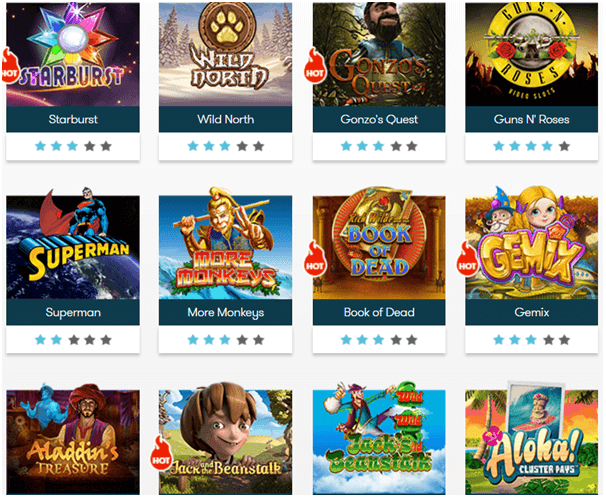 Intercasino Singapore- Games to play