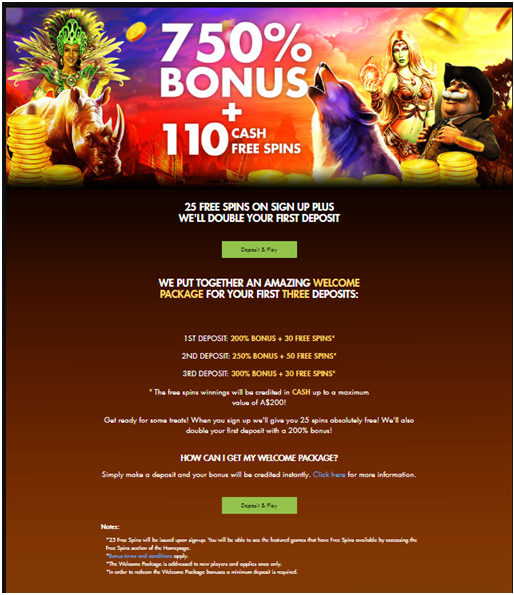 Rich casino 750% Bonus