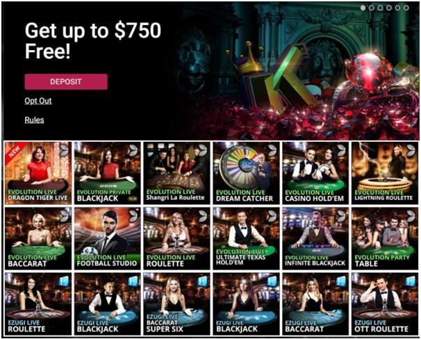 Ruby Fortune casino live games