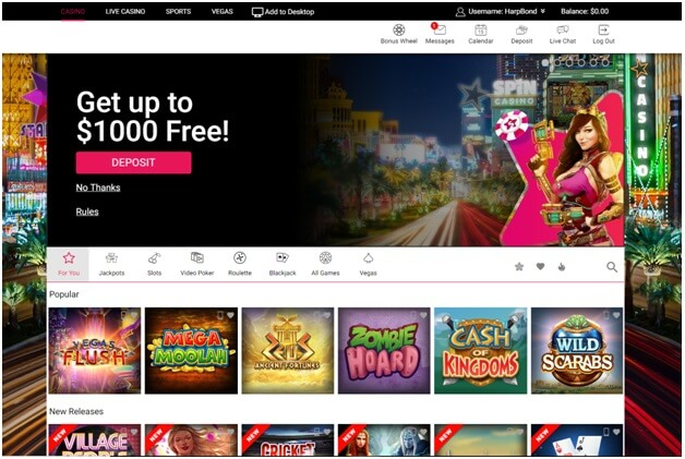 Spin Palace casino games - Singapore play