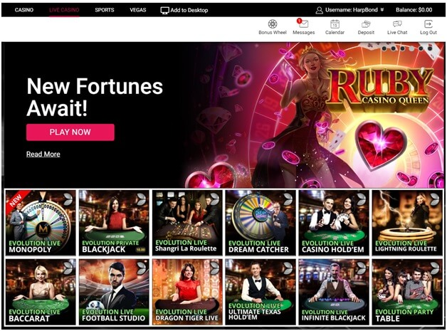 Spin Palace casino live games - Singapore play