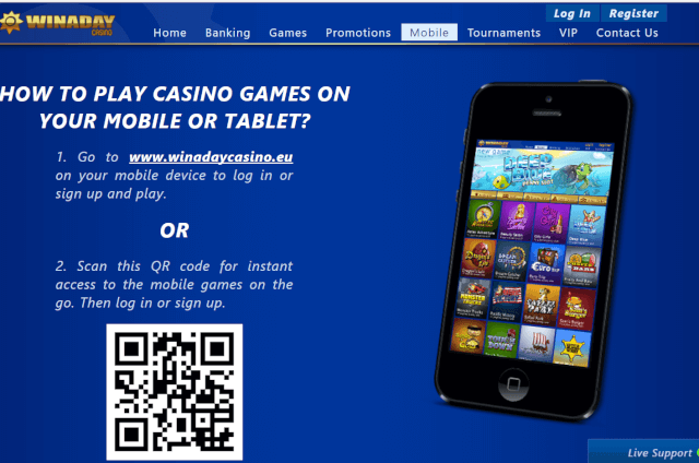 Win A Day Casino - Mobile