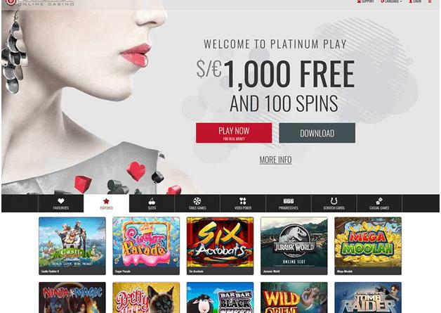 platinum play casino Singapore