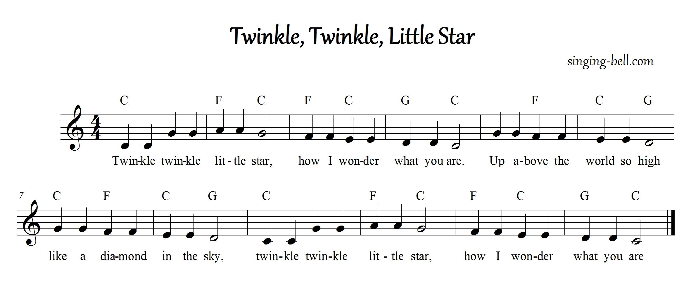 Free Nursery Rhymes  Twinkle Twinkle Little Star  free