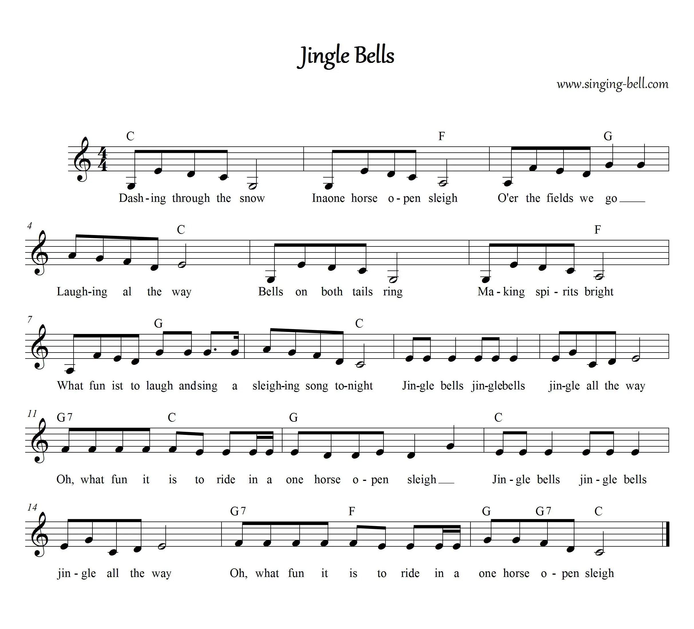 Jingle Bells Free Karaoke Christmas Carols For Children
