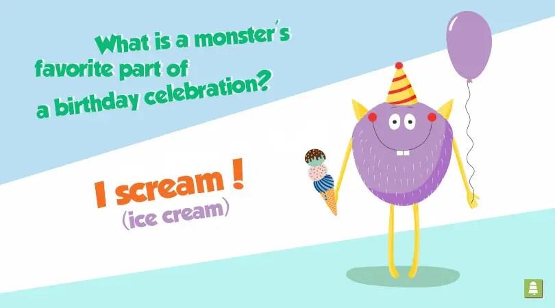 Birthday Jokes For Kids A Tiny Monstrosity