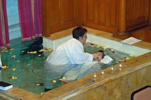 My baptism, Calvary Baptist Church, December 13, 2009