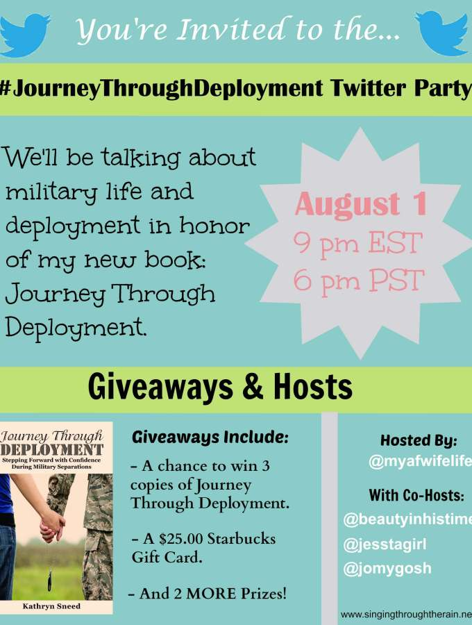 #JourneyThroughDeployment Twitter Party!!