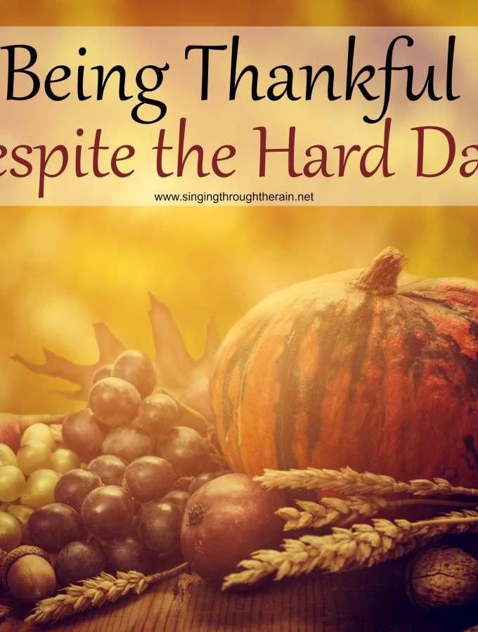 Being Thankful Despite the Hard Days