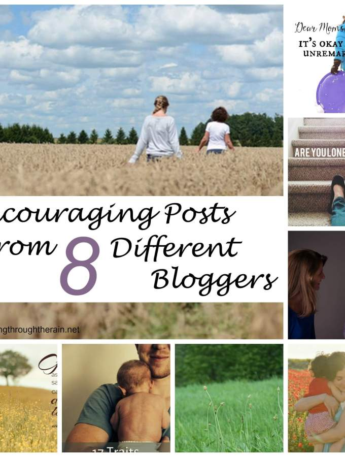 Encouraging Posts From 8 Different Bloggers