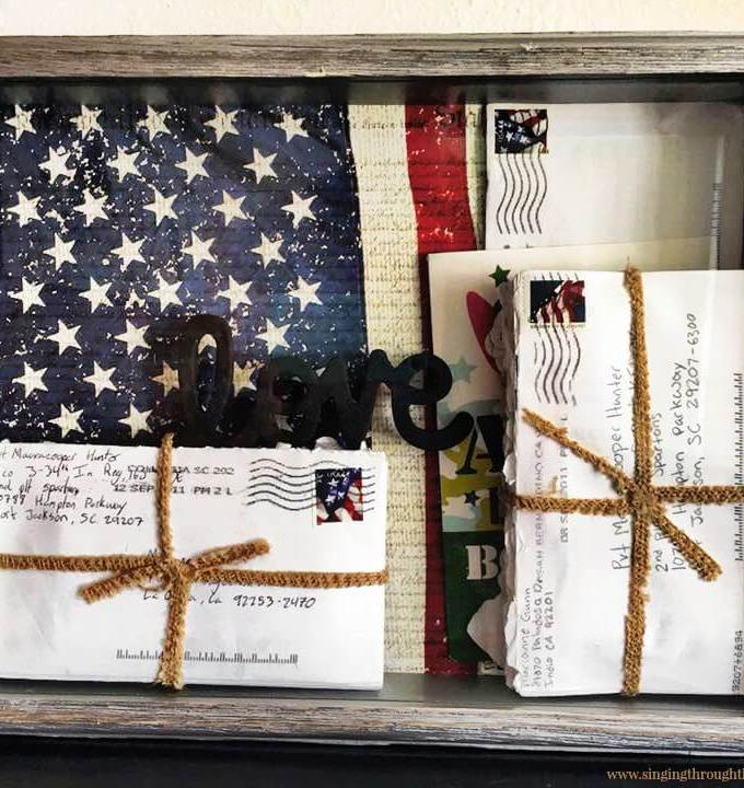 DIY Shadow Box for Your Deployment Letters