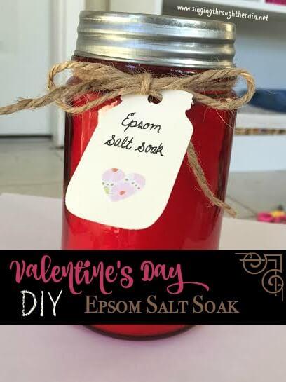 Valentine's Day DIY Epsom Salt Soak