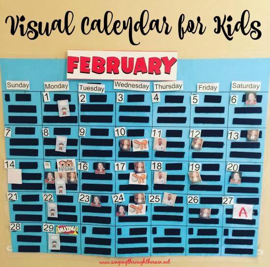 DIY Visual Calendar for Kids