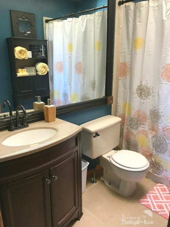 Blue and Yellow Bathroom