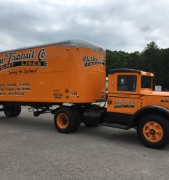 yellow freight lives on in this beautiful restoration of a mack truck and a fruehauf trailer [ 1066 x 800 Pixel ]