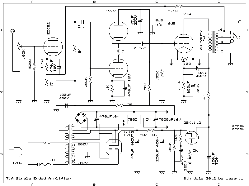 71A Single Ended Amplifier D.I.Y