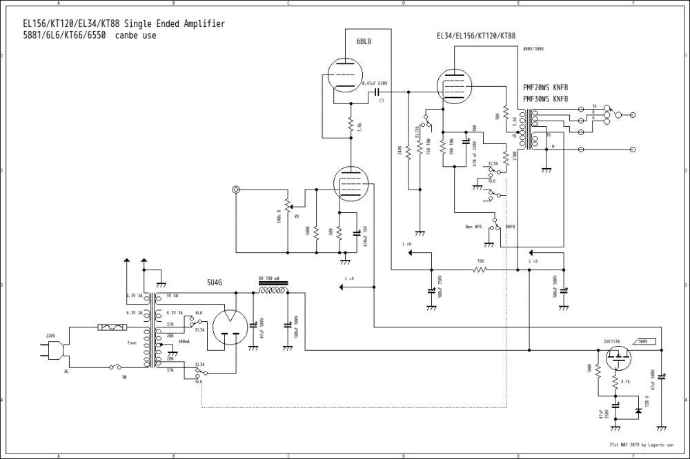 medium resolution of el34 6550 kt88 single ended amplifier on 28th mar 2018