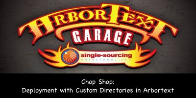 Chop Shop: Deployment with Custom Directories in Arbortext