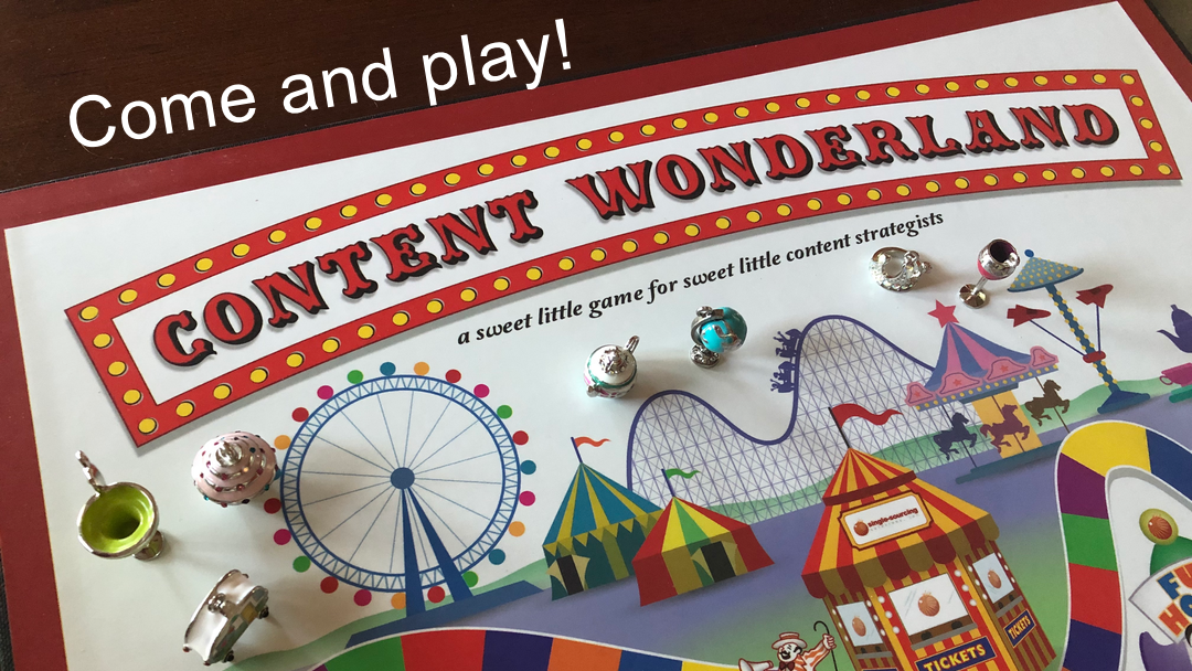 Content Wonderland board game close up image