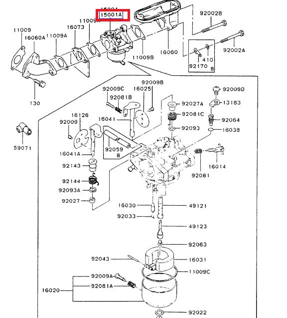 Kawasaki 15001-2937 OEM Carburetor FB460V