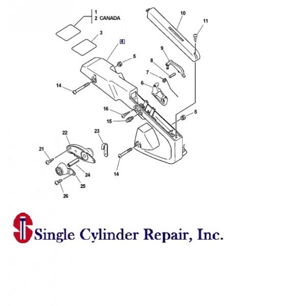 Echo Handle Rear 35111039431 CS-305
