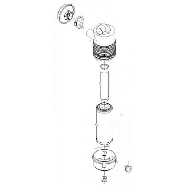 Exmark 103-5178 OEM FILTER-AIR ASSY Lazer Z XP Diesel