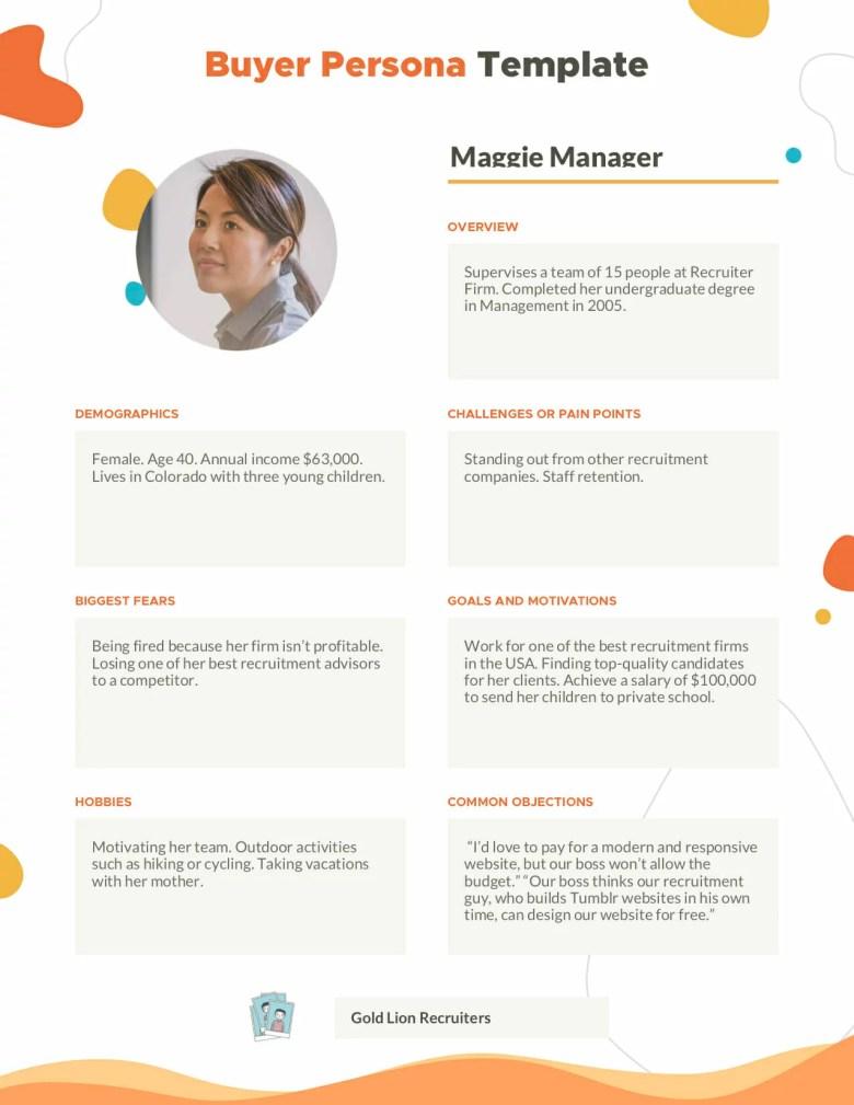 Compratore Persona - Maggie Manager