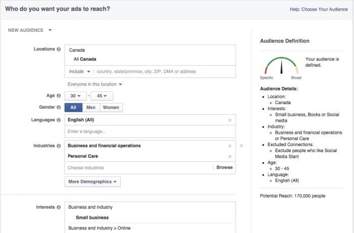 targeting per località per età di Facebook e1467062473336
