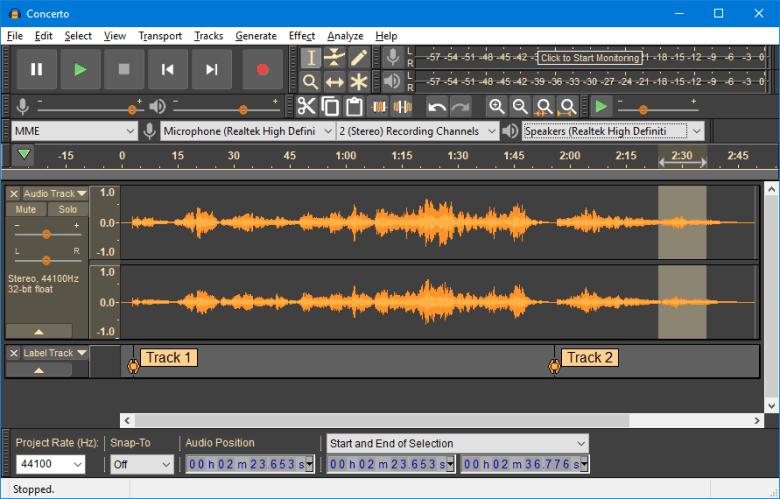 Software audio Audacity
