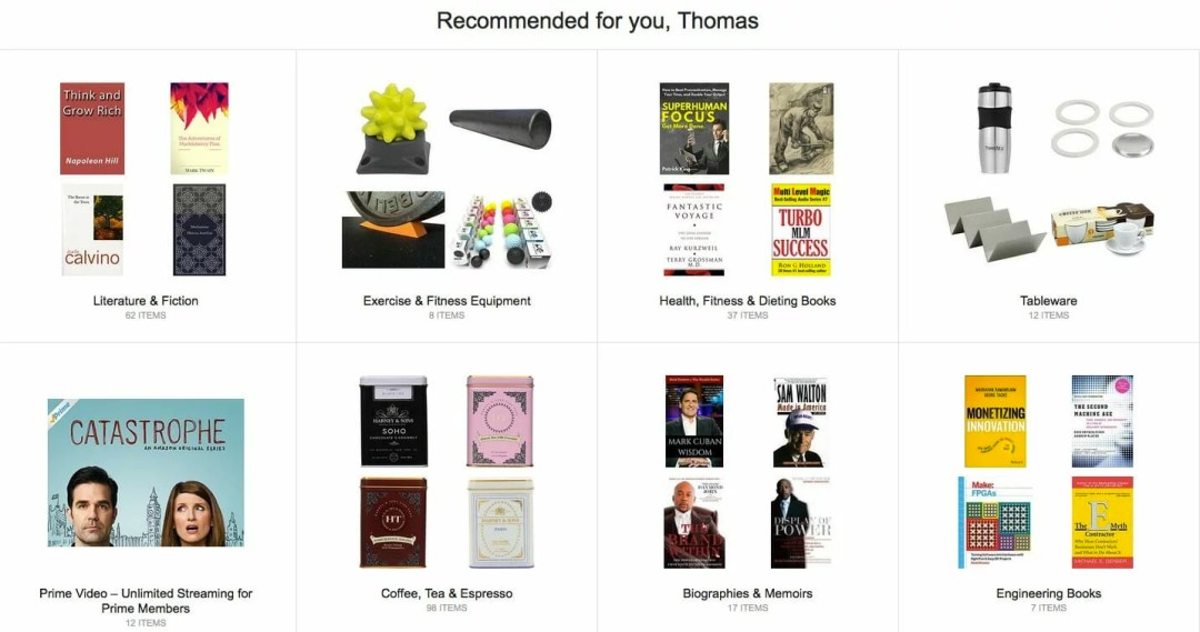 Amazon recommended thomas