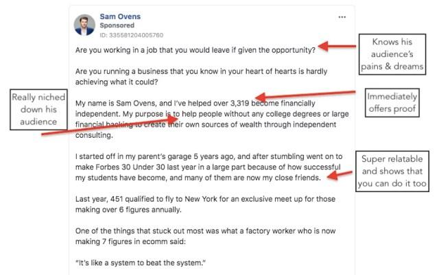 Sam Ovens FB ad