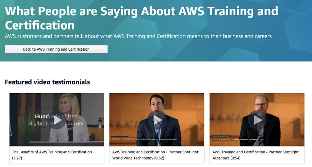 AWS testimonials