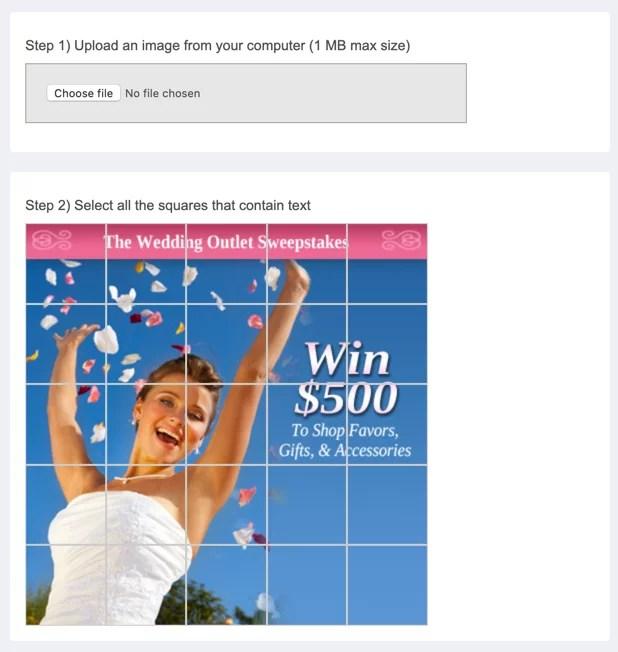 Facebook grid image checker