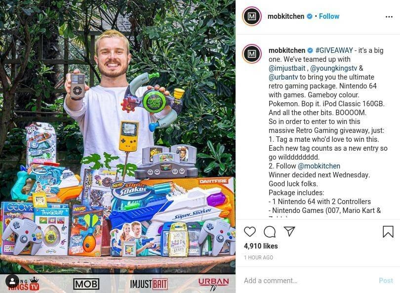Mobkitchen Instagram Giveaway