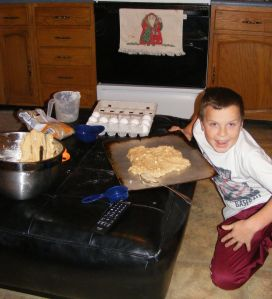 Noah & his giant cookie