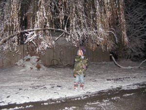 Kaleb and stick