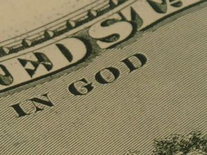 "Give me's? ""In God"" printed on money should show giving"