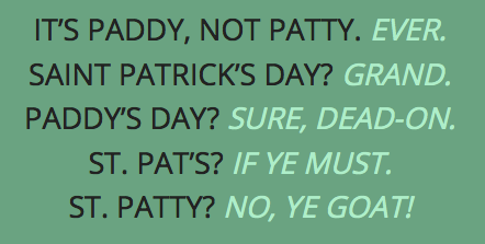 Saint Paddy vs. Saint Patty