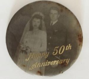 Grandma & Grandpa's 50th Anniversary Pin