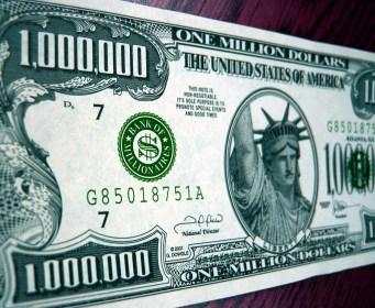 False god - money - play money $1,000,000