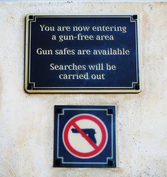 Gun Control Sign - Gun Free Zone