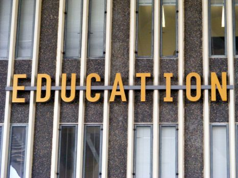 EDUCATION - word on academic building