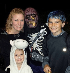 Kaleb, Me, Noah, and George - Halloween 2013