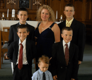 All 6 of us dressed up for a wedding