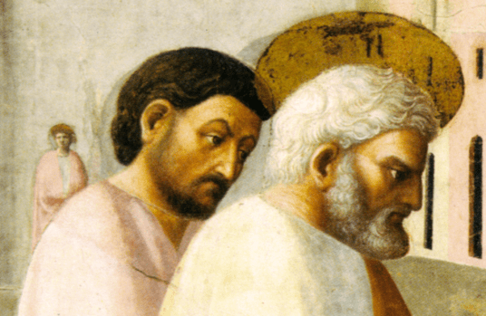 Old Painting of Saints (Perhaps Peter and John)