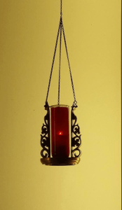 Red Candle in the Church Means Jesus is Present