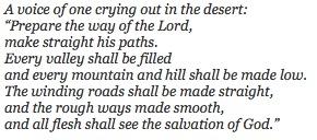 Gospel Luke 3:1-6