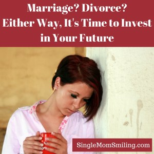 Marriage? Divorce? Invest Future - Woman looking down and sad